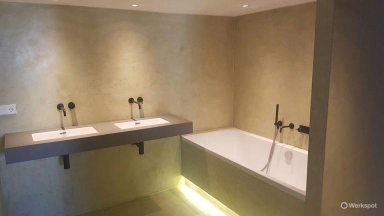 Betonlook Muur Prijs : Betonlook muur zelf maken special badkamer stucen kosten unique