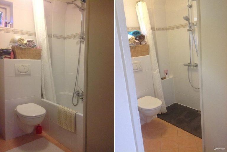 van bad naar douche