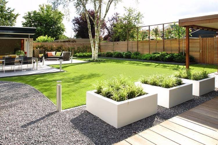 Tuin aanleggen lelystad kleine moderne tuin hoekwoning