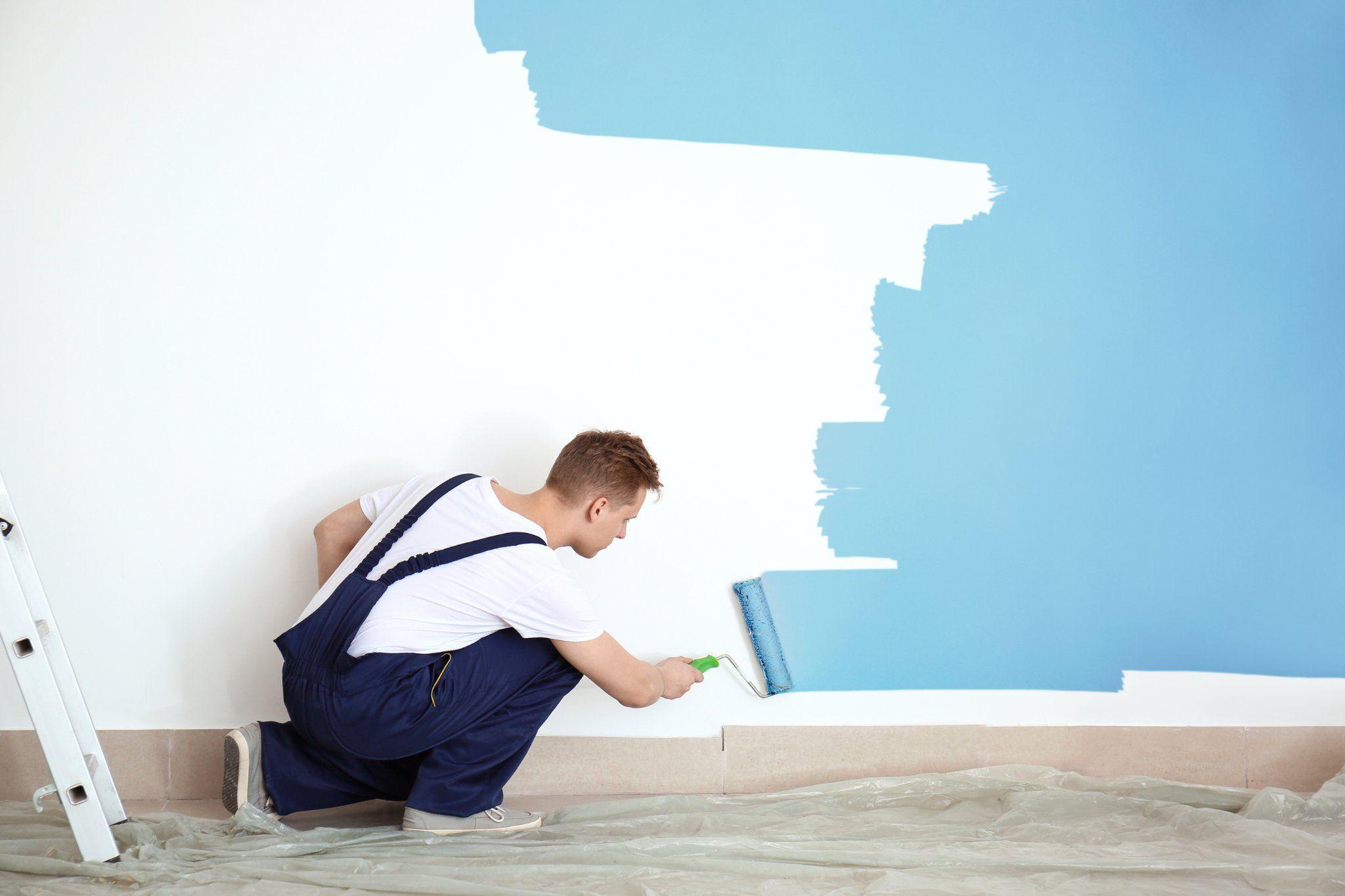 Muur herschilderen