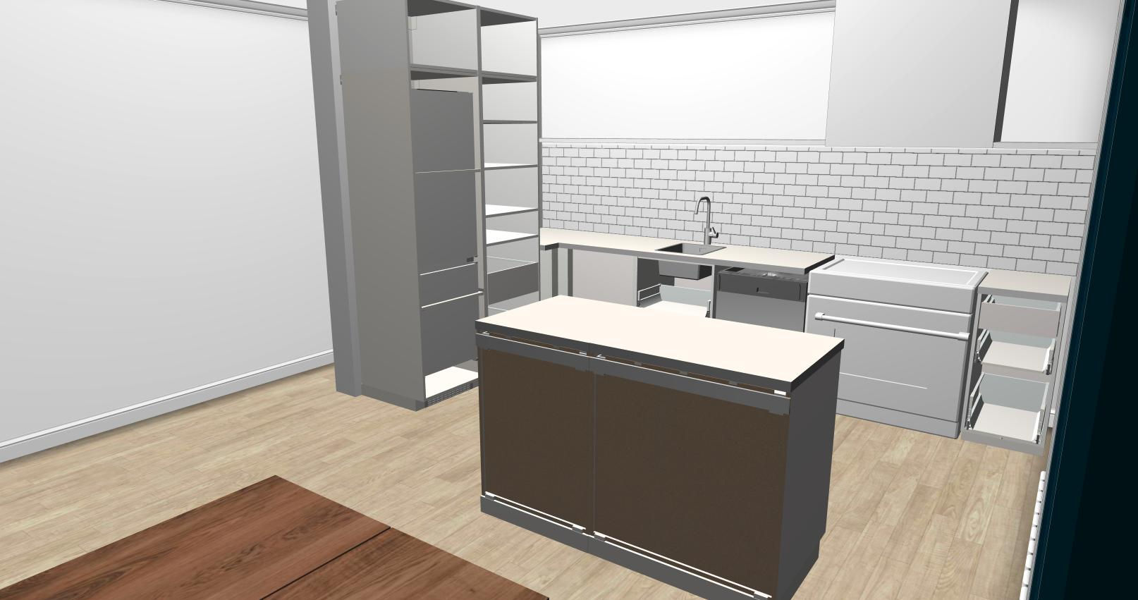 Keuken Montage Ikea Keuken L Vorm Klein Werk Eiland Aanrecht Werkspot