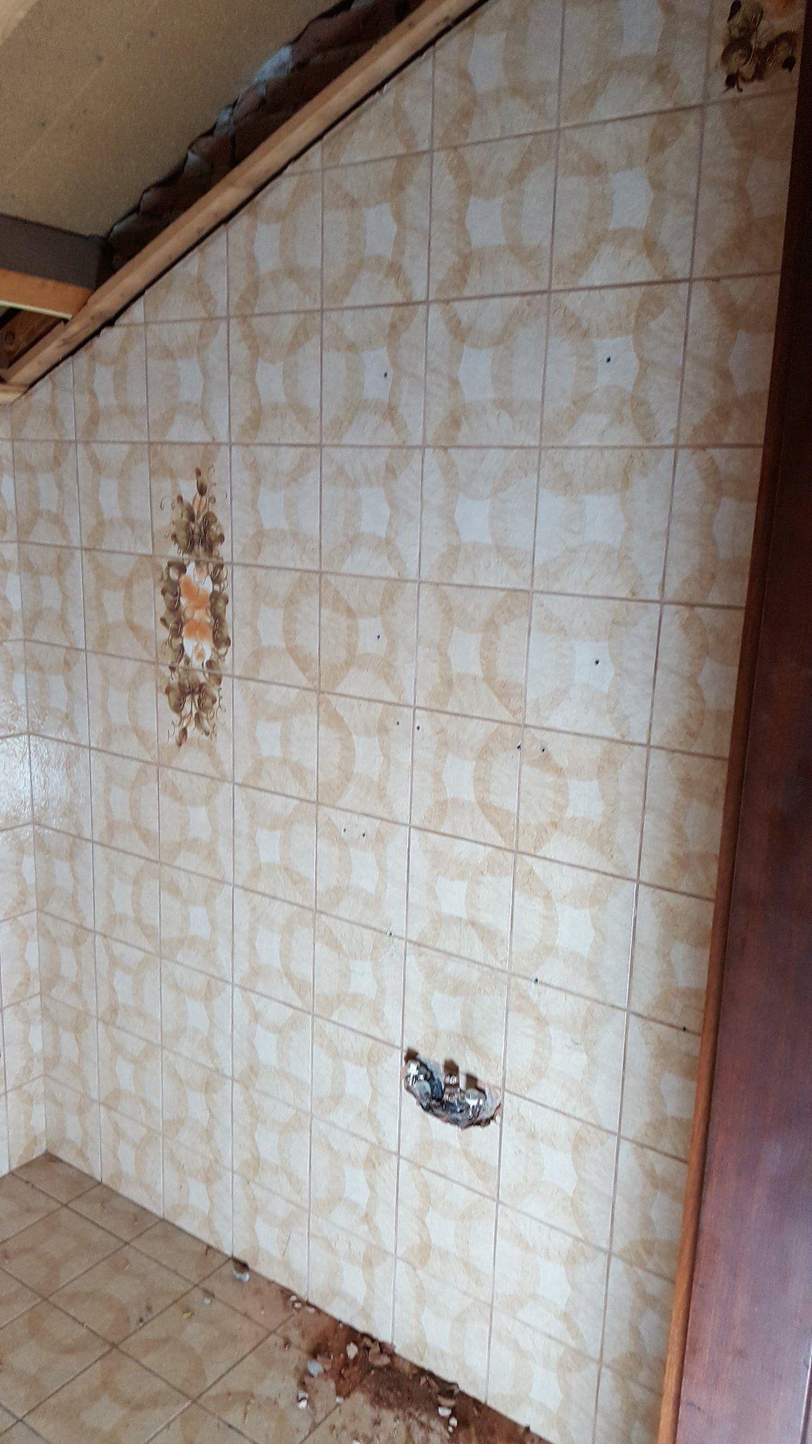 Verwijderen Slopen Tegels Badkamer Muurtje Werkspot