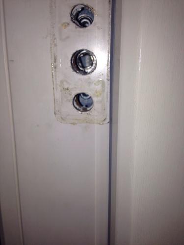 Slot kapot deur dicht